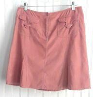 Ann Taylor LOFT  Women's Skirt  Rose Pink Light-Weight Micro-Corduroy  Size 6
