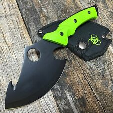 """10"""" Fixed Blade Tactical Survival Axe Hunting Knife Hatchet Skinner"""