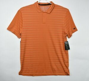 Nike Men's DRI-FIT Tiger Woods Orange Golf Polo Shirt BV0350-847 Size L $85
