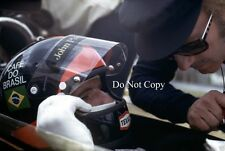 Emerson Fittipaldi & Colin Chapman Lotus F1 Portrait 1972 Photograph