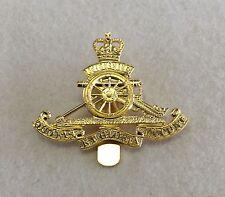 Royal Artillery Brass OR Cap Badge, Gold, Army, Military, Metal Slider, RA