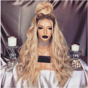 Blonde Gold Layered Long Curly Hair Princess Human Hair Sexy Charmy Full Wig New