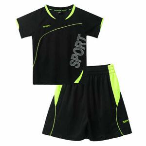 T-Shirt Shorts Trainingsanzug Kurzarm Basketball Kleidung Jungen Sportanzug Set