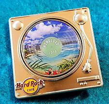 HONOLULU HAWAII TURNTABLE SERIES DIAMOND HEAD WAIKIKI BEACH Hard Rock Cafe PIN