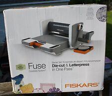 NEW IN BOX Fiskars FUSE Creativity System Die cut & Letterpress in One Pass NIB