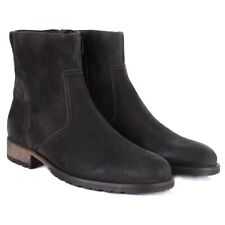 New Belstaff Attwell Graphite Distressed Ankle Chelsea Boots Size 40/7US $525.00