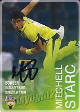 ✺Signed✺ 2014 2015 AUSTRALIAN Cricket Card MITCHELL STARC Big Bash League