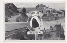 Good Luck from Felixstowe, Black Cat Postcard, B339