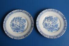 Zwei kleine Teller, Unterteller Sorau Carstens Porzellan China Blau Portland