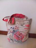 Accessorize borsa in cotone e pailettes con fantasia floreale nuova!