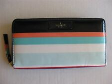 Kate Spade New York Daycation Neda Wallet Clutch Multi Party Stripe New! NWT