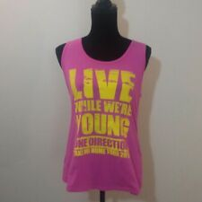 One Direction Take Me Home Tour Pop Boy Band Pink Racerback T-Shirt