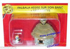 Le VILLAGE d'ASTERIX n° 18 figurine FALBALA & une hutte figure figurina PLASTOY