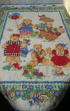 Blanket Crib Infant Quilt Vintage 33x43 No Tags Homemade 1980s