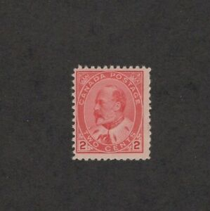 Canada Scott 90 - King Edward VII. 2 Cent Single. MLH. OG.     #02 CAN90