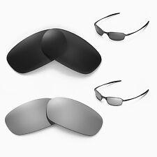 New Walleva Polarized Black + Titanium Lenses For Oakley Square Wire 2.0