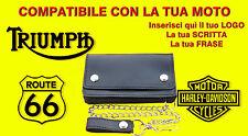 Borsello bikers da personalizzato Triumph portafoglio Wallet Leather geldbörse