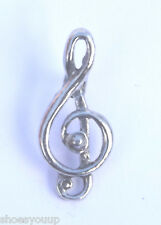 Musical Note Treble Cleff Finely Handcrafted in Solid Pewter In The UK Badge
