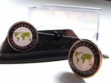 JAMES BOND 007 UNIVERSAL EXPORTS BADGE MENS CUFFLINKS GIFT