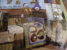 NEW COCALO LIL EXPLORER FROG 6 PIECE CRIB BEDDING MOBILE SET