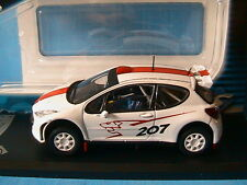 PEUGEOT 207 SUPER 2000 S2000 2006 SOLIDO 1/43 WHITE DIE CAST METAL MODEL