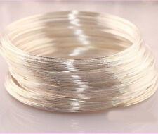 New 100/500 Loops Metal Memory Steel Wire Cuff Bangle Bracelet 60mm 6 Colors