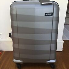 •Carlton Cabin Size Bag Grey Silver  Spinner Suitcase Luggage Hard Case