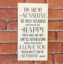 You Are My Sunshine Song Lyrics Wooden Sign Gift Idea