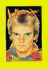 INTERVIEW MAGAZINE-JANUARY 1983-STING-BASQUIAT-PATTI DAVIS-SKREBNESKI PORTRAITS