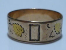 VICTORIAN LEAF LEAFY 10K GOLD WEDDING ENGAGEMENT RING BAND SIZE 8.25
