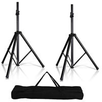 5 Core 2 PIECE Tripod Speaker Stand Pair 132LB Load Audio Stage Monitor Mount DJ