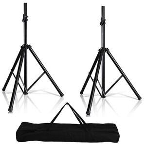 Tripod Speaker Stand 2pc 132LB Stage Monitor Mount DJ 5 Core SS HD 2PK