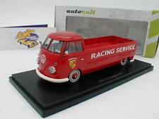 """AutoCult 07011 # VW T1 Langpritsche Bj. 1967 """" Porsche Racing Service """" 1:43 NEU"""