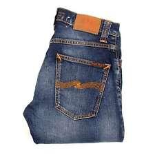 Nudie Jeans grim tim PERVERSO Azul Hombre Vaqueros talla 29/32