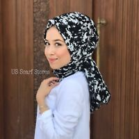 Cotton Hijab, Cotton Scarf, Turkish Hijab Meteor Designed Shawl