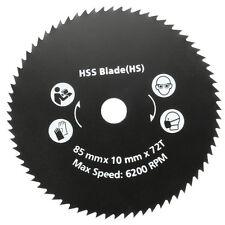 85mm 72 Teeth HSS Circular Saw Blade Rotary Cutting Discs Wheel For Rotary Tools