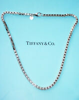 Tiffany & Co Sterling Silver Venetian Link Necklace 18 Inch