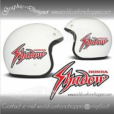 2 ADESIVI DECAL STICKERS HONDA SHADOW CASCO BANDIT MOTO CUSTOM