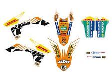 KTM GRAFICHE STICKERS DHL WHITE  EXC 2012 2013 SX 2011 2012 VARI ANNI E MODELLI