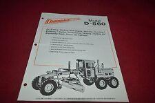 Champion D-560 Motor Grader Dealer's Brochure Dcpa6 vere2