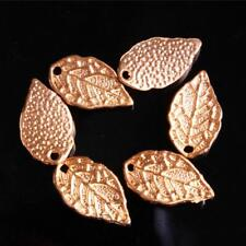 100/500 pcs Charms Leaf Pendant Silver Gold Tibet DIY Jewelry Making Charm Bail