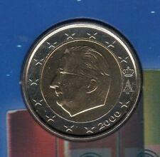 Belgique 2000 2 Euro Pièce neuve BU FDC provenant coffret BU 40000 exemplaires -