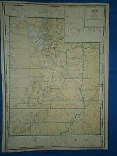 Vintage 1935 State & County MAP UTAH Old Original Folio Size Atlas Map