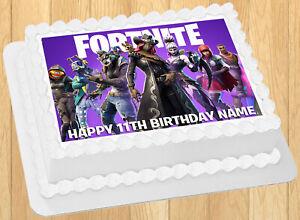 "EDIBLE Fortnite Season 6 Cake Topper Image Wafer Paper Quarter Sheet (8""x10.5"")"