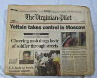 Viginia Pilot Oct 4 1993 Moscow Mayhem Clinton Yeltsin Somalia Mob Drags Soldier