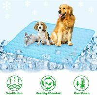 Pet Cooling Mat Non-Toxic Cool Pad Comfortable Bed Cushion For Dog Cat M/L/XL