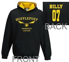 Harry Potter Hoodie Quidditch Hoodie Top Jumper Personalised hufflepuff Kids