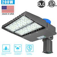 Led Parking Lot Lighting 200W, Adiding Street Shoebox Pole Light with Photocell