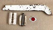 Vintage Bicycle Spares Raleigh White Chain Guard Pedal Bar Grips Reflector Bike
