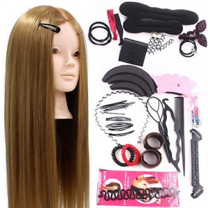 Neverland Training Head 24inch 50% Real Human Hair Cosmetology Hairdressing Doll